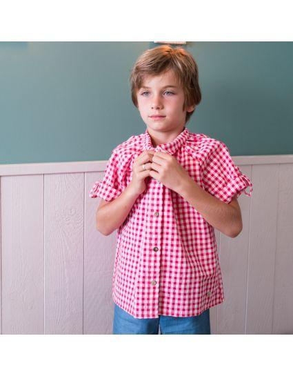 Camisa vichy fresa